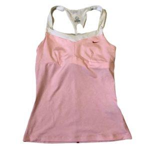 Nike Dry Fit Pink Workout Tank W/ Shelf Bra Size M